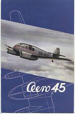 LET AERO 45 MANUFACTURERS SALES BROCHURE CZECHOSLOVAKIA