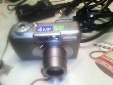 PENTAX Pentax Optio S40 4.0MP Digital Camera - Silver Tested WORKS