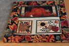 Burgundy Pumpkins Floral 15 x 15 Handmade Quilted Table Runner
