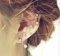 Stars Galaxy Earrings Constellation Cuff Sweep Up Crawler Climber Ear Pin Women
