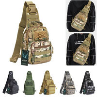 Men Backpack Molle Tactical Sling Chest Shoulder Bag Travel Hiking Trekking Bag