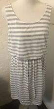 Target Collection Size 16 Retro 70's Summer Grey Stripe Dress Beach Casual BNWT