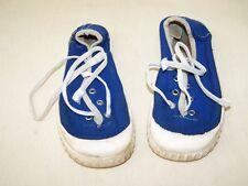 DDR Kinderturnschuhe 28 blau weiss original Fabrikation Made in GDR Gummisohle