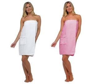 Womens 100% Cotton Terry Cloth Beach Cover Up Dress Spa Bath Body Towel Wrap