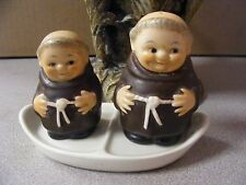 Vintage Goebel- Monk Friar *Salt and Pepper* Set with Tray