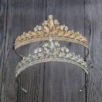 Womens  Crystal Tassel Bride Tiara Crown Hairband Wedding Jewelry