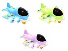 Kinder Spielzeug Flugzeug Jet Plane Schieben mit Licht Geräusche versch Farben