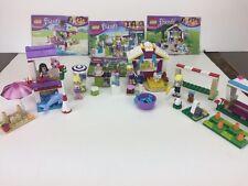 Lego Friends 3930, 41011, 41028. 41029 Stephanie's Poodle, Bakery, Emma Soccer