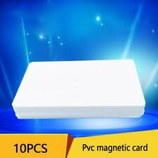 10pcs PVC PLASTIC BLANK WHITE CREDIT CARD 30 MIL With Stripe Loco Magnetic H1T7