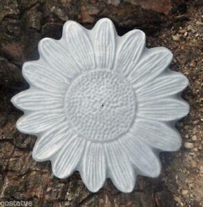 "Plastic flower mold concrete plaster casting mold 6.75"" x 1/2"" thick"
