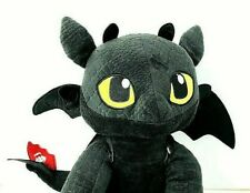 """Build A Bear Toothless How To Train Your Dragon Black Plush Toy 14"""""""