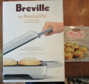 BREVILLE THE PERSONAL PIE MAKER~BPI640XL~4 INDIVIDUAL~NON STICK~MINI~TARTS~NEW