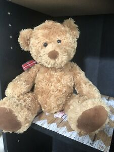 "Russ Berrie TANNER Bear Plush 16"" Tall Item #33097"
