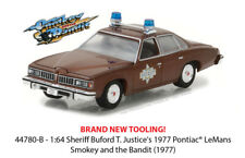 GREENLIGHT 1/64 JUSTICE'S 1977 PONTIAC LEMANS SMOKEY AND THE BANDIT 44780-B