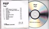 PULP Pulp (We Love Life) - 1st pressing 2001 UK 11-track promo test CD