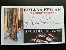 """SORORITY ROW"" BRIANA EVIGAN AUTOGRAPHED 3X5 INDEX CARD"