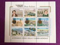 REPUBBLICA 1995   FOGLIETTI II GUERRA MONDIALE NUOVO MNH**