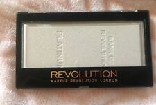 Makeup Revolution Face Powder Highlighter Platinum Ingot - Silvery White