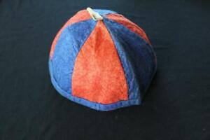 "COLLECTOR'S DEADSTOCK 1930'S LITTLE RASCAL'S RED & BLUE FELT CAP 8 1/2"" D SIZE L"