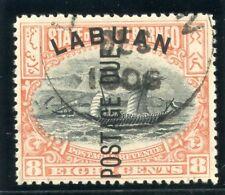 Labuan 1901 KEVII Postage Due 8c black & vermilion (p13½-14) VFU. SG D6. Sc J6.