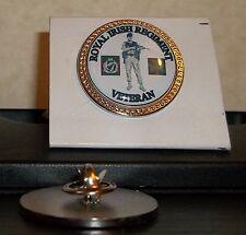 HM Armed Forces The Royal Irish Regiment Veteran lapel pin badge .