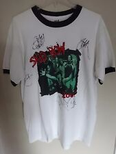 Vintage Skid Row Band 2007 Concert T-Shirt Men L Signed by The Band Autographed