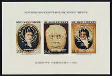St Thomas & Principe 617 Deluxe Sheet MNH Beethoven, Charles & Diana Wedding