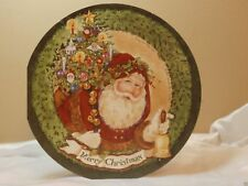 Holiday Christmas Seasonal Card Santa Wreath Bell Greeting Gift Post Vintage