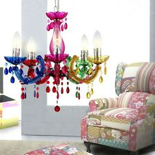 Plafonniers salon lustre lampe salle à manger lustre éclairage multicolore