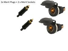 2 x Merit ( Hella) Cigarette Lighter Plugs and Sockets 12V Caravan ,Fridge, Boat
