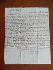 1849 Veracruz Mexico to Maryland Stampless Letter James Buchanan Mexican War