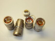 LOT OF 4 KINGS KN-59-176 M39012/01-0005 COAXIAL CONNECTOR TYPE N PL 0HZ TO 11GHZ
