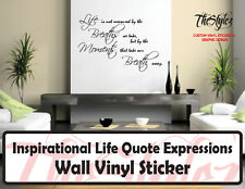 Inspirational Life Quote Expressions Wall Vinyl Sticker