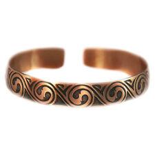 Pure 100% Copper Bracelet Bioactive Bangle Vintage Style Bronze