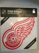"Detroit Red Wing NEW 12"" Heavy Gauge Vinyl Team Logo Magnet. NHL Hockey Fan"
