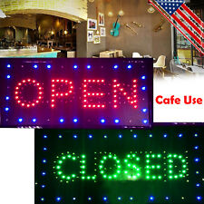 Usa* Led Business Open & Closed Sign +On/Off Switch Bright Light Neon Cafe / Bar
