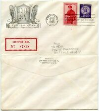 USA CERTIFIED MAIL FDC ILLUSTRATED ENVELOPE 1955