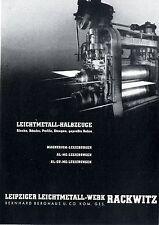 Leipziger Leichtmetall- Werk Rackwitz / Flugmotoren Histor. Aviatik- Annonce1941