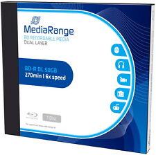 1 Mediarange Rohling Blu-ray BD-R Dual Layer 50GB 6x Jewelcase
