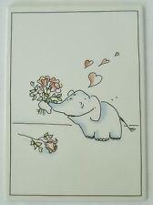 Villeroy & Boch Galerie Bimbo in Love Elephant Pink Roses Porcelain Vilbo? Card