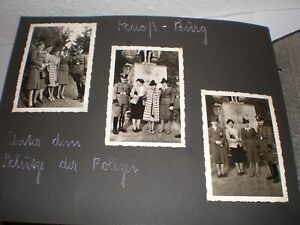 altes Fotoalbum aus den 30er Jahren ca.120  schwarz/ weiß Bilder Dachbodenfund