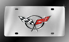 Chevrolet Corvette C5 3D Emblem Chrome Decorative Vanity License Plate
