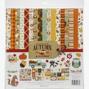 "Echo Park 12"" X 12"" Paper Collection Kit Celebrate Autumn NEW"