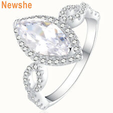 Newshe Wedding Band Engagement Ring For Women 925 Sterling Silver White Cz Sz 9