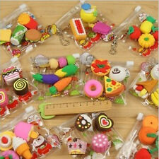Funny Cute Food Rubber Pencil Eraser Stationery Children Party Creative