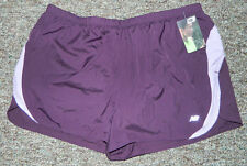 NEW Women NBX New Balance Solid Purple Running Short Build-in Panty Size XL