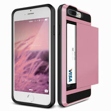 Slim Card Holder Armor Wallet Phone Cover Case For iPhone 8 7 6s 6 Plus 5S SE