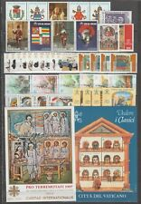 S15569) Vatican MNH 1997 Complete Year Set 34v +2 S/S