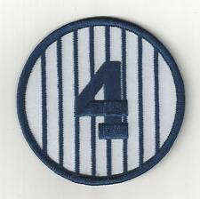 """Lou Gehrig  Retired Number 4 Patch 3"""" Round New York Yankees Pinstripes"""