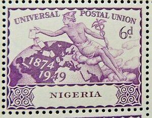 NIGERIA 1949 SG66 6d. 75TH ANNIVERSARY OF UPU  -  MNH